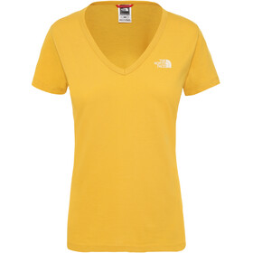The North Face Simple Dome Camiseta Manga Corta Mujer, golden spice